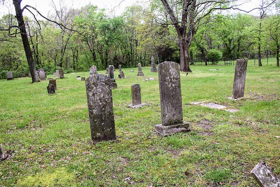 Grave Markers in the McElwee-Stewart-Carr Cemetery