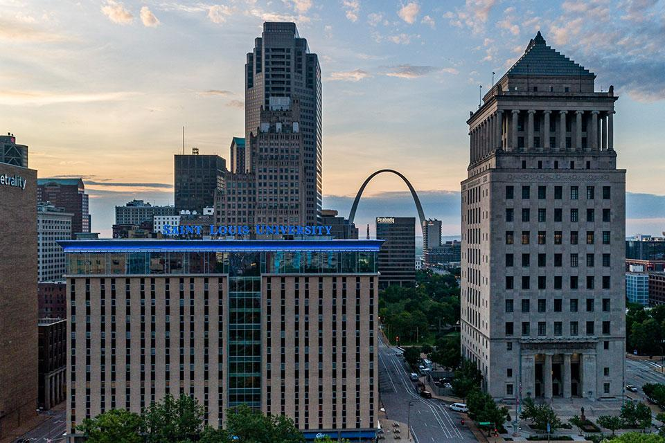 Scott Hall is located in the heart of downtown St. Louis next to the City of St. Louis Civil Courts Building.