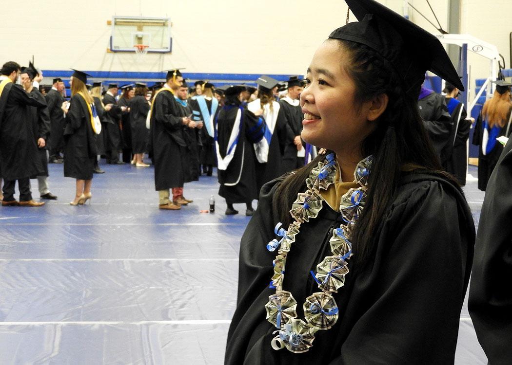 Graduating seniors get ready to become SLU alumni.