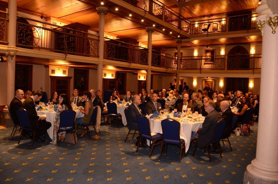 Photo of members at the AOA Induction Banquet.