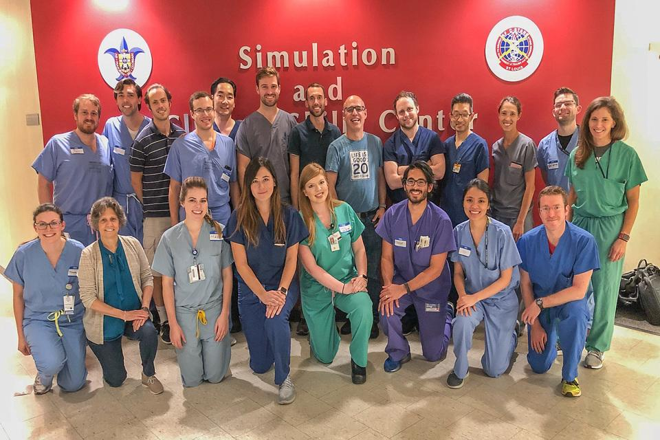 Group photo of the annual Midwest Otolaryngology Simulation Training.