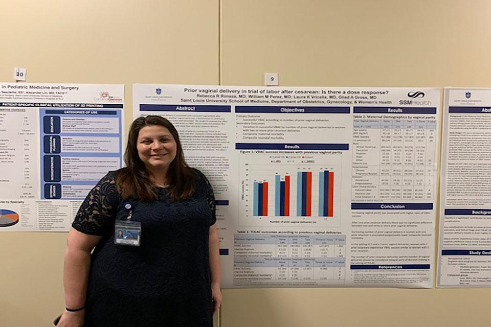 Rebecca Rimsza, M.D., obstetrics/gynecology: Best At-Poster Discussion.