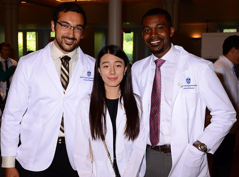 Members of the Saint Louis University School of Medicine Class of 2023. Photo by Kyle Kabance.