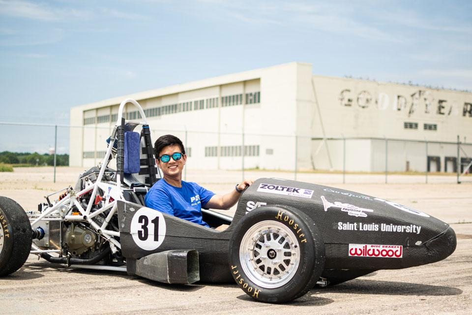 Ready to run in a race car built by Billikens. Submitted photo