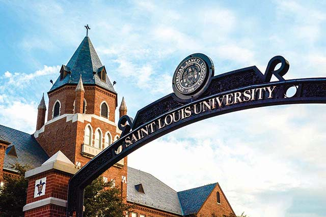 Of the 50 other universities represented, SLU is the only university ranked from Missouri and the highest ranked Jesuit institution.