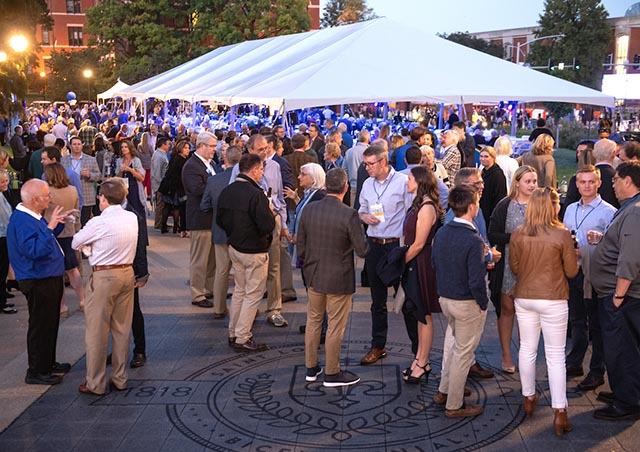 President's Circle tent at Homecoming