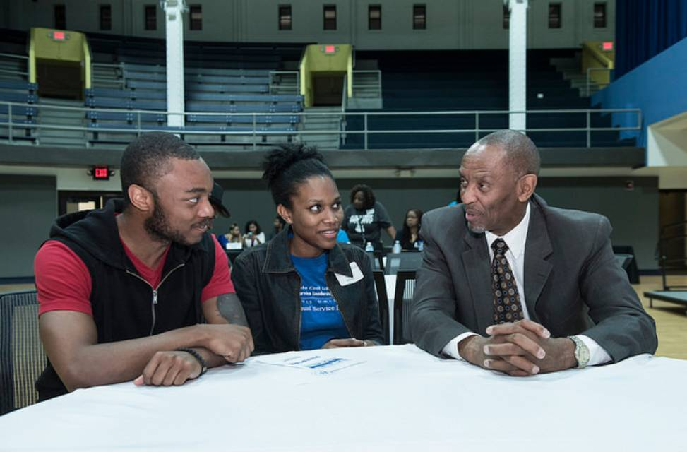 students and alum at Black Expo