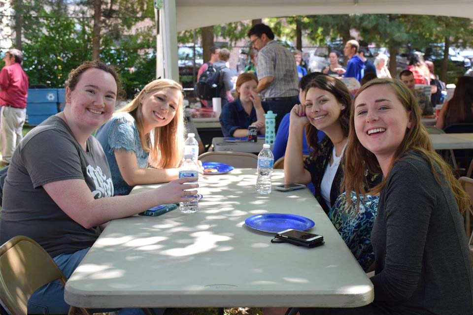 Students at a Political Science Picnic