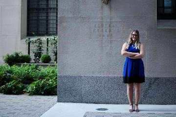 Hannah McEnery, a recent graduate from SLU's Richard A. Chaifetz School of Business