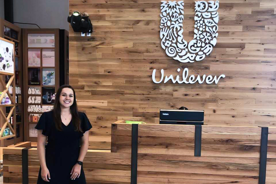 Katie LaMarca interns at Unilever
