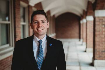 Luke Miller, a senior in the Chaifetz School of Business, is among the fourth generation in his family to attend Saint Louis University and will become the third with a business degree.