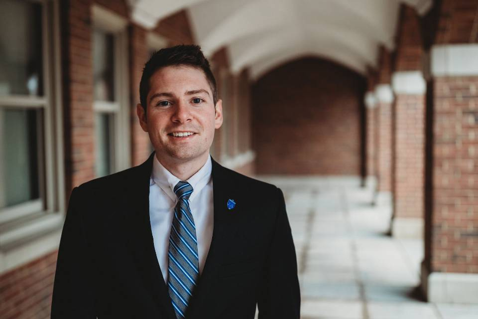 Luke Miller, Senior majoring in information technology management and minoring in supply chain management, is of the fourth generation in his family to obtain a degree from SLU.