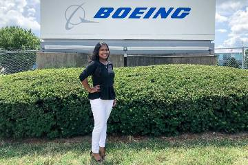 In the summer of 2018, Snehitha Injamuri worked as an estimating and pricing intern for The Boeing Company. Now, she will be working full time for Boeing's business skills rotation program.