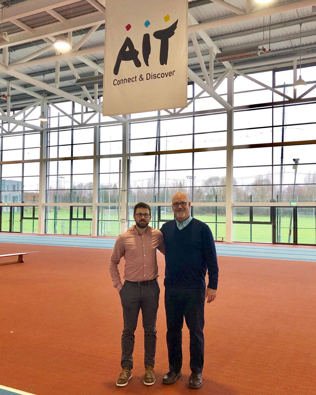 Dr. Breitbach with AIT AT Director in Ireland