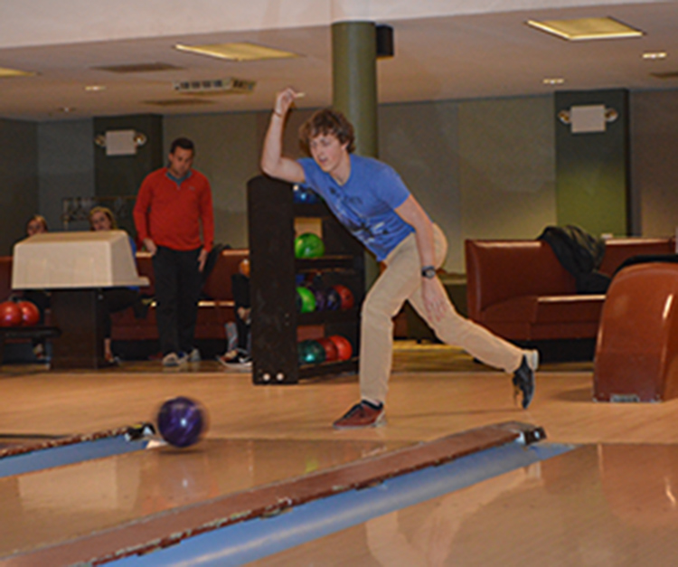 Student Bowling at Fundraiser