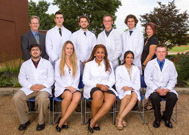 The graduating students in the nuclear medicine technology program.