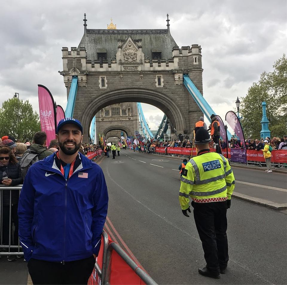 SLU AT Alumn Connor Doherty at the London Marathon