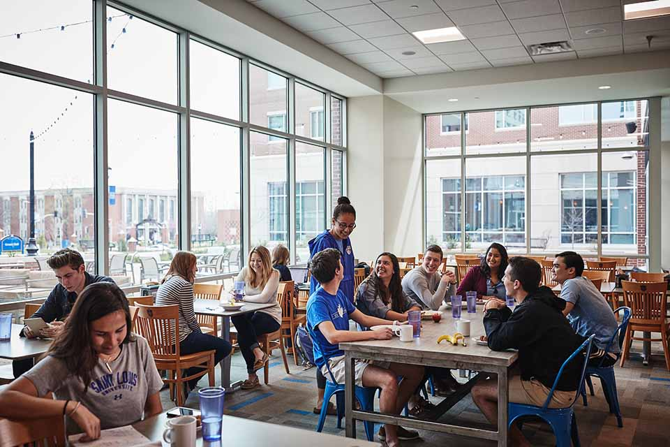 SLU dining on campus