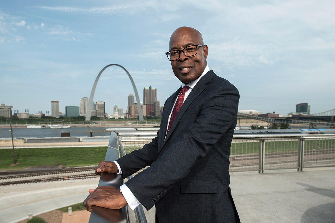 The Hon. Jimmie Edwards ('81) is the director of public safety for the City of St. Louis, former circuit court judge of the 22nd Judicial Circuit in Missouri for the City of St. Louis, and founder of the Innovative Concept Academy, an alternative school for at-risk youth.