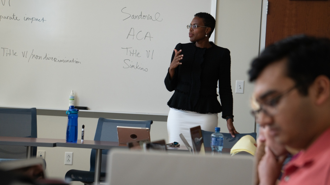 Health law class with Prof. Ruqaiijah Yearby