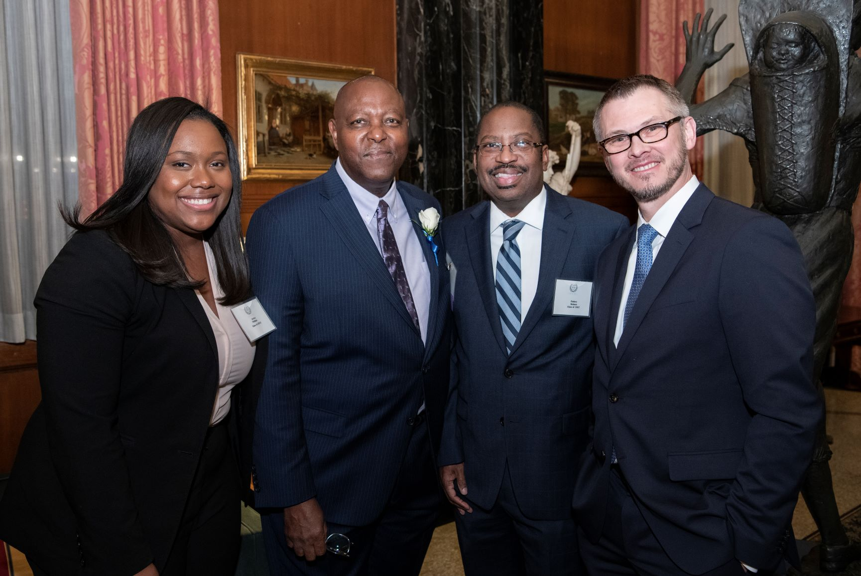 Order of the Fleur de Lis Hall of Fame honoree Judge Donald Wilkerson, Melvin Kennedy and Abigail Willie were appointed by Dean William Johnson.
