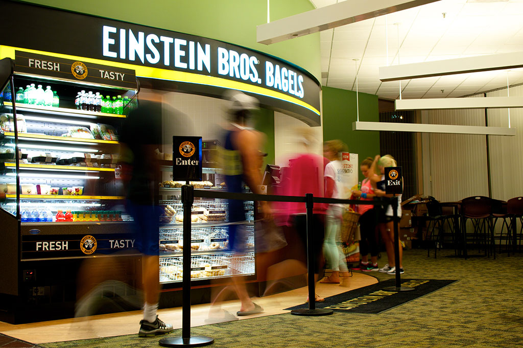 Einstein Bros. Bagels in Pius XII Memorial Library