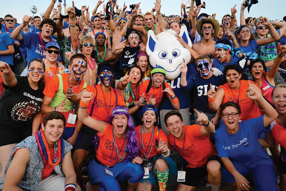 SLU's Fall Welcome is a great opportunity for students to meet new people and make new friends.