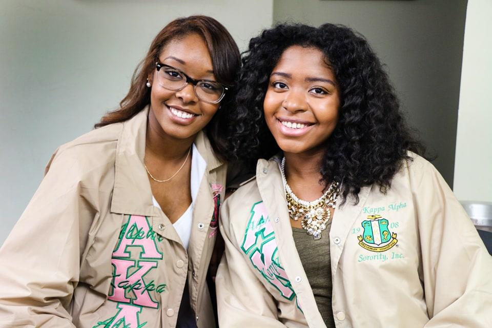 Members of SLU's Multicultural Greek Organizations