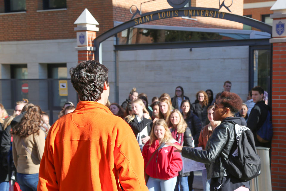 Cycling in Madrid Río with Campus Ambassadors and Student Life staff