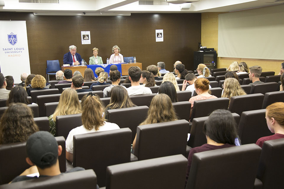 SLU-Madrid hosts Spanish literature conference on Antonio Pereira.