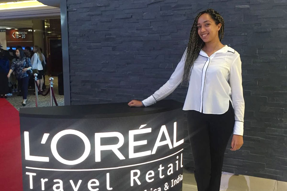 Paola Ntunzwenimana '16 (Communication) takes on a demanding marketing role at l'Oreal Middle East.
