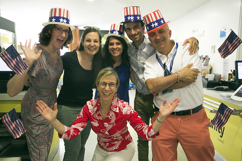 The Admissions team celebrates the fourth of July.