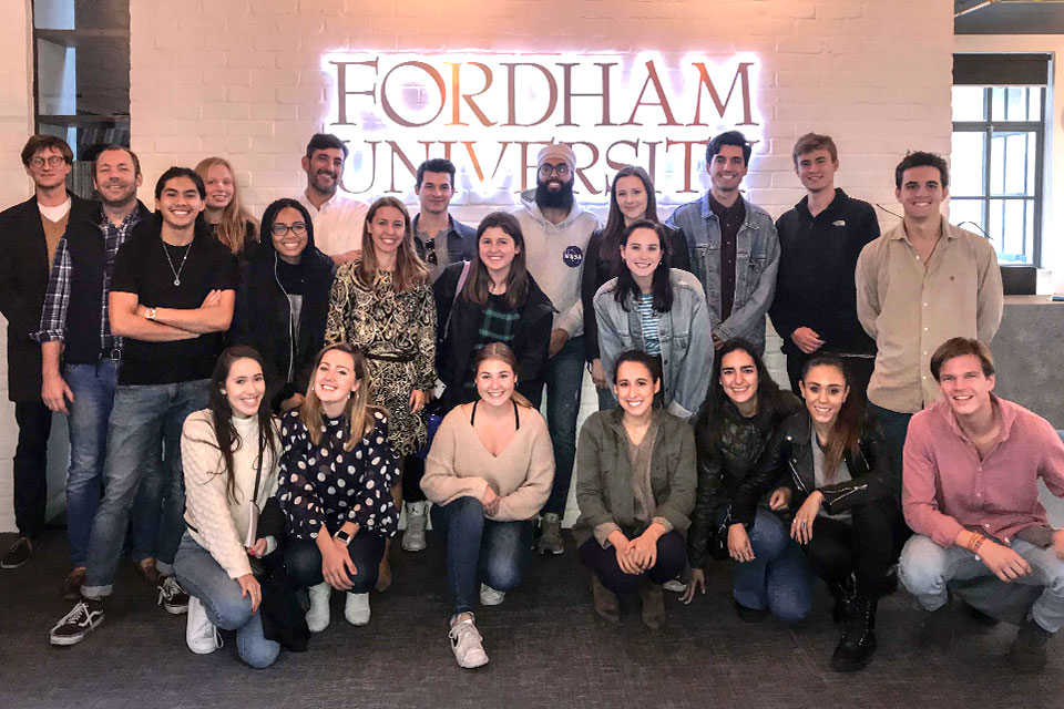 International marketing students travelled to London for the second annual marketing project with students at Fordham University's London Campus.