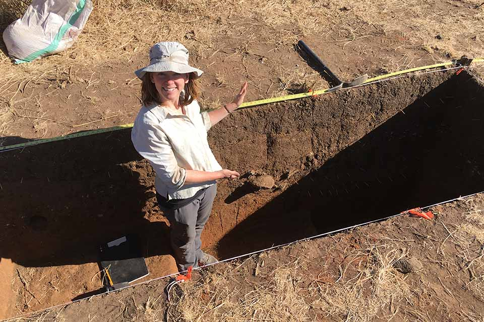 Dr. Mary Prendergast directs excavations at the site of Luxmanda, Tanzania, where one of the first ancient African human genomes was sequenced.