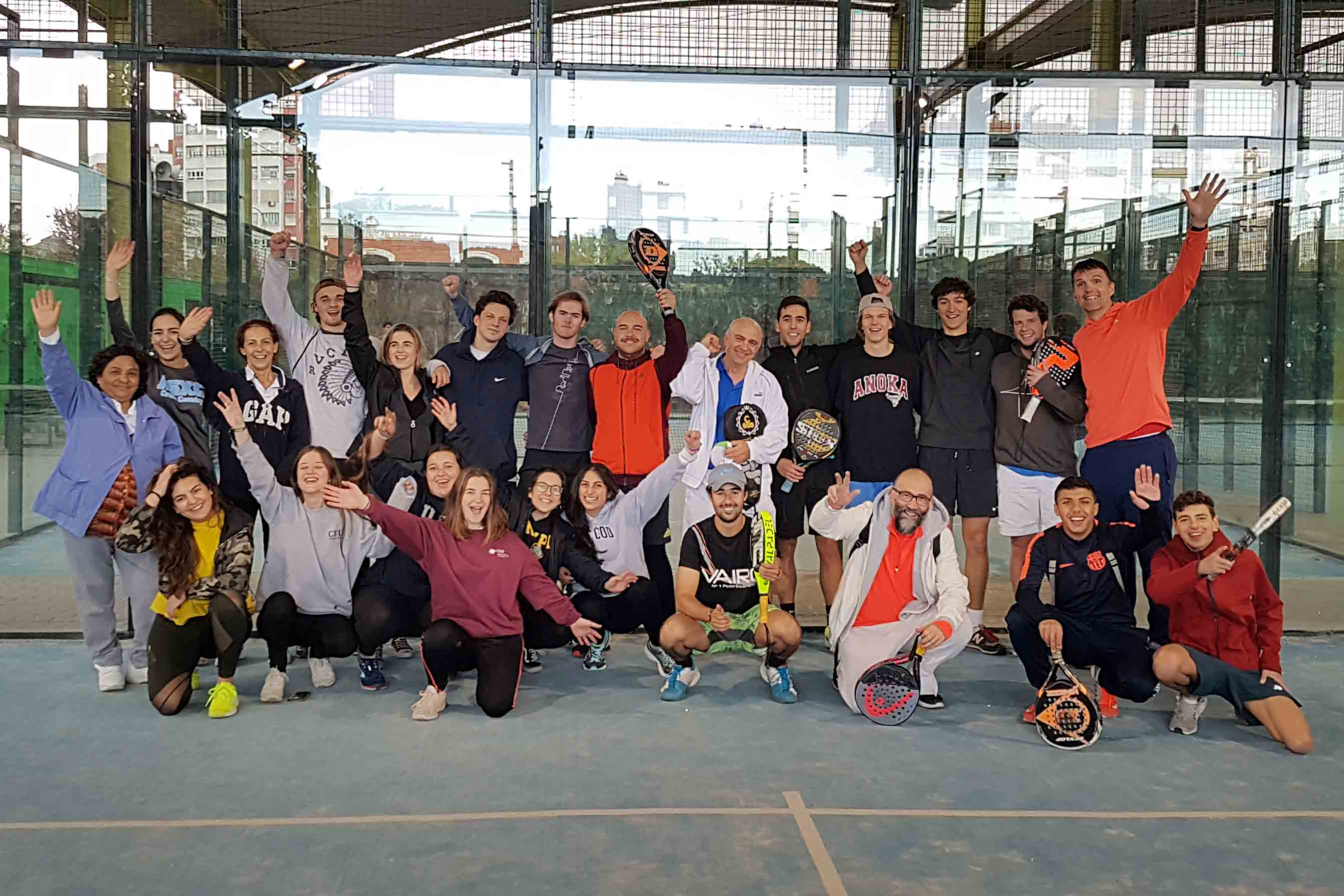 Students, staff and faculty came together for SLU-Madrid's first Paddle Tennis Tournament Fundraiser, raising over 200 euros to support Casa Ronald McDonald, an NGO that assists with the housing needs of families with children who are hospitalized.