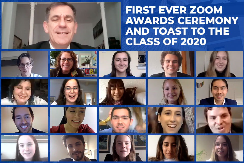 The SLU-Madrid community connected online from across the globe for to honor outstanding achievement and raise a glass to the Class of 2020.
