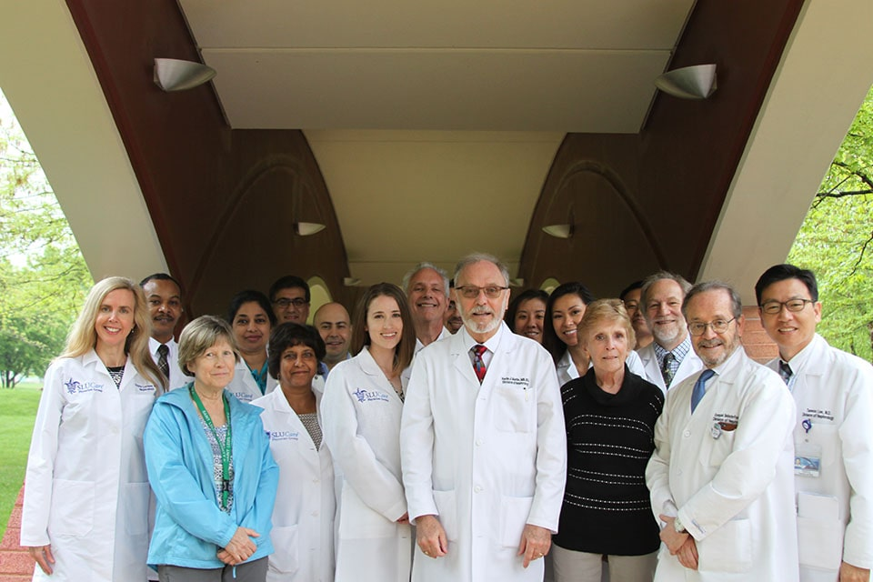 Group photo outside of 2019 Nephrology Department