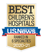 Best Children's Hospital Presented by US News and World Report Ranked in 6 Specilaties 2020-2021