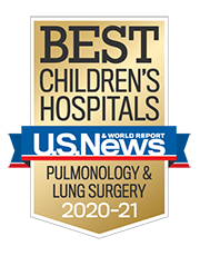 Best Children's Hospital Presented By US World News and Report for Pulmonology and Lung Surgery 2020-2021