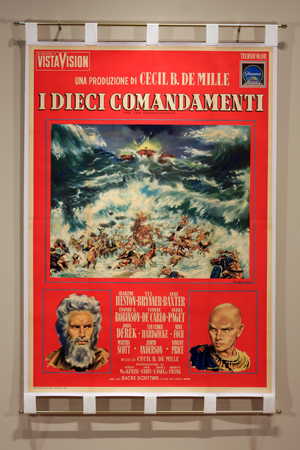 Promotional poster for The Ten Commandments (1956). Photo by Jeffrey Vaughn.