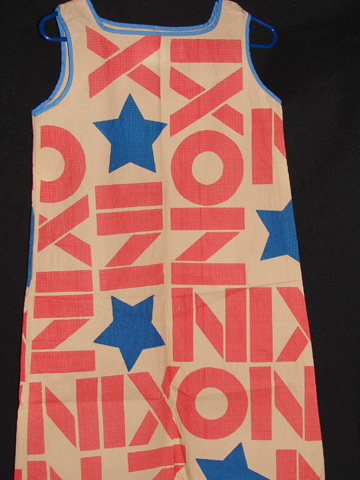 Nixon Paper Dress, 1968. Made by Mars of Asheville, North Carolina.