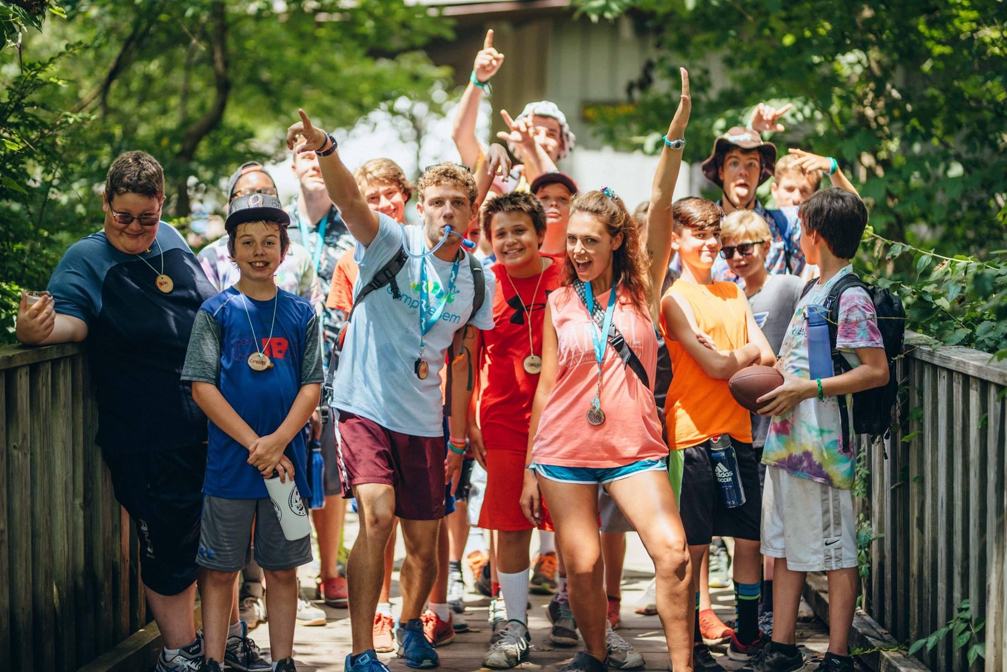 Campers at SLU's Camp Kesem whoop it up during last year's free week-long session.