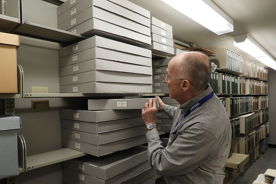John Waide in the archives