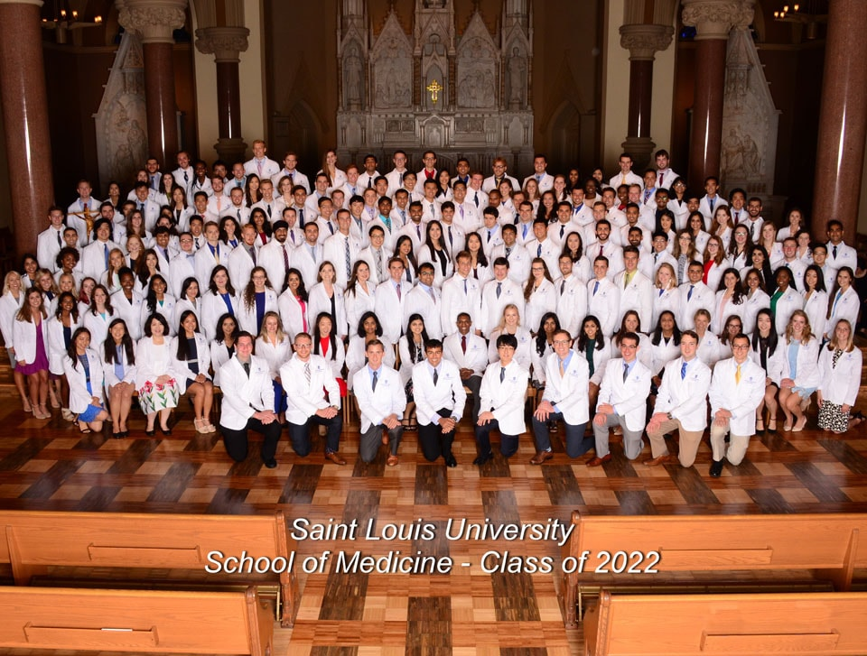 Saint Louis University School of Medicine held a white coat ceremony for the Class of 2022 Sunday, July 29.