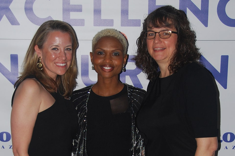 Sarah Oerther, Krista Simmons and Martha Bultas at the St. Louis Magazine nursing excellence award dinner