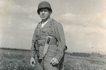 An unidentified medical officer with the 70th General Hospital Unit during World War II.
