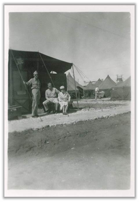 Personnel with the 70th General Hospital unit in Algeria