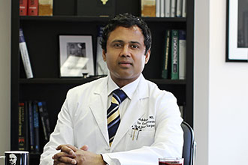 Saleem Abdulrauf, M.D., chair of neurosurgery at Saint Louis University and a SLUCare surgeon at SSM Health Saint Louis University Hospital