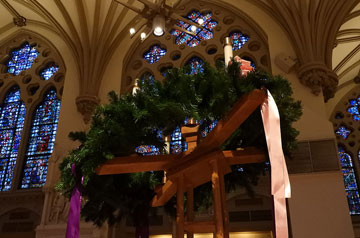 The Advent Wreath at St. Francis Xavier College Church