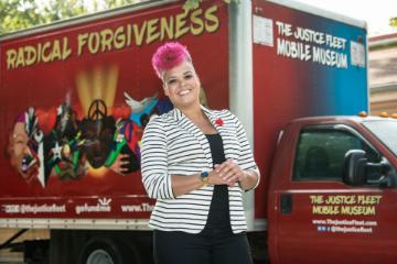 Amber Johnson outside of her Art Truck.